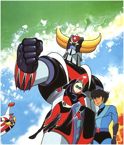 Daisuke Umon (Actarus) et son Grendizer (Goldorak)